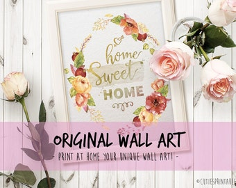 Wall art - quote print typography printable art office decor office print printable poster art watercolor