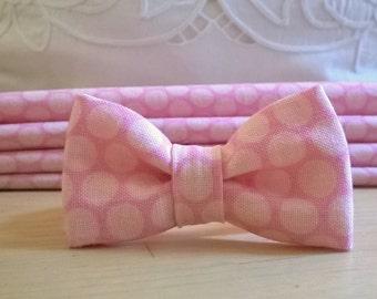 Pink polka dot knot bracelet