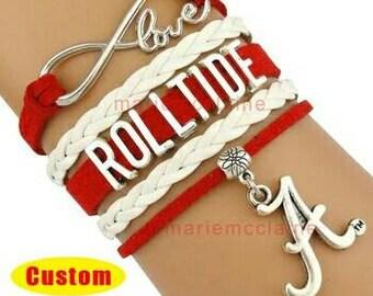 Alabama roll tide bracelet