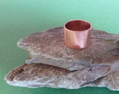 Ring Around the Rosie: Brushed copper ring Size 5.5