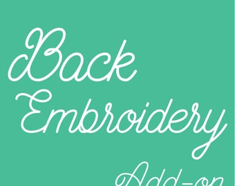 Replace Front Monogram with Back Embroidery Add-on