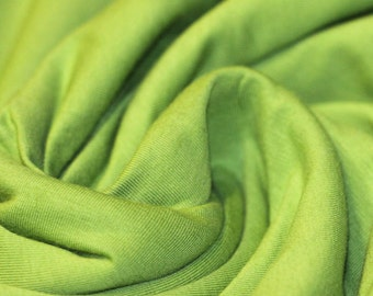 Lime Green - Cotton Lycra Jersey Knit Fabric