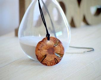 Australian gift-boho jewelry - Banksia necklace, boho necklace, long necklace, gift for her, rustic pendant, wooden pendant, wooden necklace