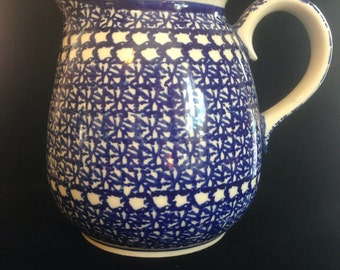 Boleseawiec Pottery Pitcher, Handmade in Poland