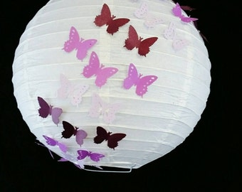Butterfly paper lantern, Purple lantern, purple hanging paper lantern, paper lantern, purple baby shower, purple butterfly birthday