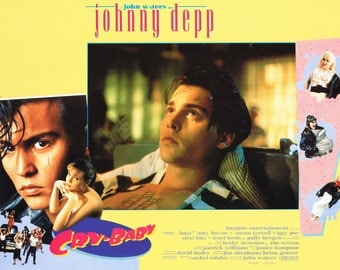 "Cry Baby – Johnny Depp – 1990  11"" x 14"" US lobby card."