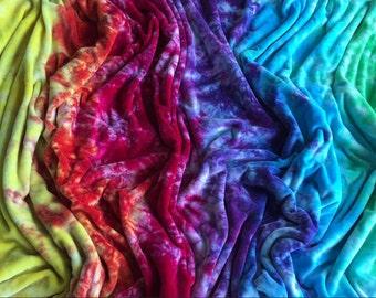 Organic Bamboo Velour OBV Rainbow blanket 40x60