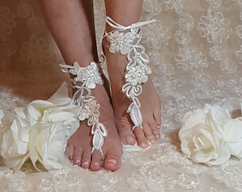 Wedding Barefoot Sandals,Wedding Beach Sandals,Barefoot Sandals,anklets,Wedding Shoes,Poolsides Sandals,Destination Wedding,Wedding Apparel