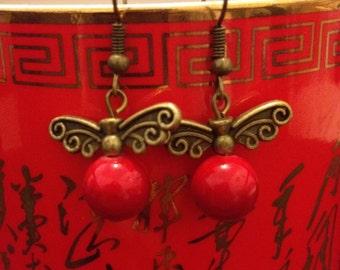 Antique Brass ethnic earrings