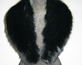 Luxury gift/Fox Fur/ Black  Collar  Women's/wedding or anniversary present