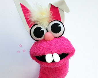 Bunny Rabbit Sock Puppet - Hand Puppet