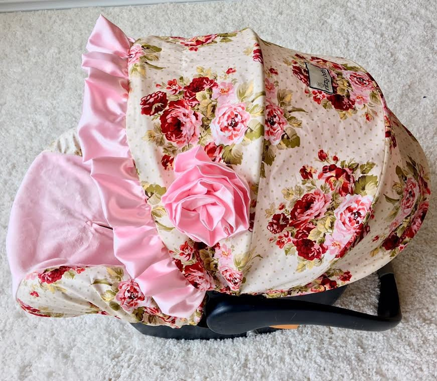 Custom Baby Car Seat Covers >> Baby Car Seat Covers Roses Infant Car Seat Covers Baby Girl