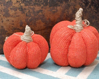 Ready to Ship set of 2 sweater pumpkins
