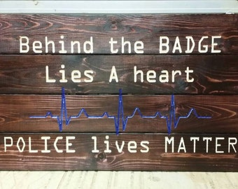 Carved Police lives matter sign check out our other listings