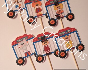 Circus Theme Cupcake Toppers