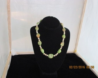 Emerald Isle Turquoise & silver necklace