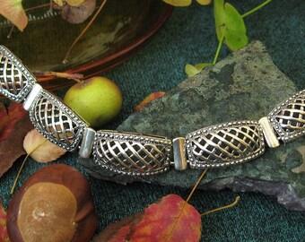 Sterling Silver Medieval style Bracelet