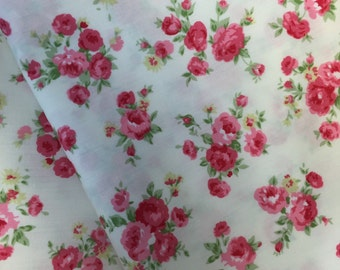 Cotton Fabric Roses Design