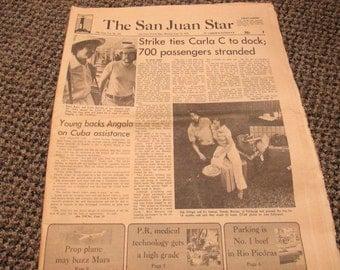 The San Juan Star newspaper June 12, 1978