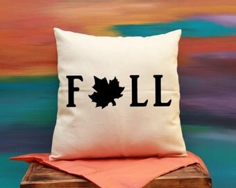 Fall Cotton Tweed Pillow