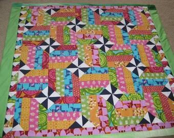 Colorful Spring Pinwheel Quilt