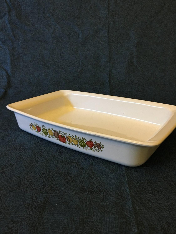 Vintage Corning Ware Spice Of Life Roasting Pan Casserole