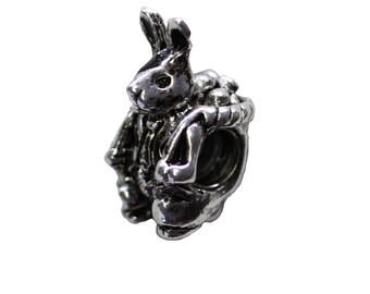 Easter bunny charm charm fits popular charms bracelets