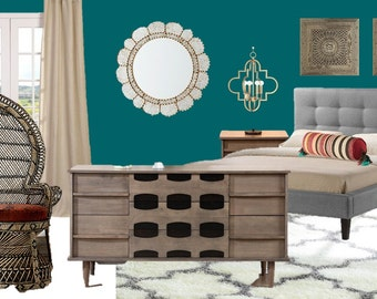Items Similar To Pre Made Interior Design Package Bedroom On Etsy