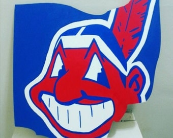 Cleveland Indians Logo Chief Wahoo sign
