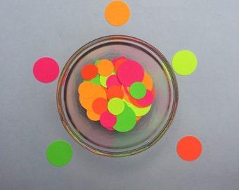 Neon Confetti, Colorful, Neon Round Confetti, NeonConfetti with Glitter