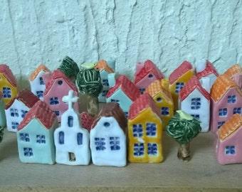 Little ceramic houses / Маленькие керамические домики
