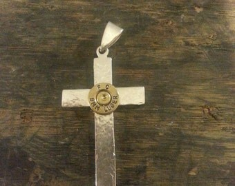 Textured Sterling Silver Cross