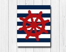 Nautical Print - Baby Nautical Theme - Nautical Wall Hangings - Nautical Room Decor - Nautical Home Decorations