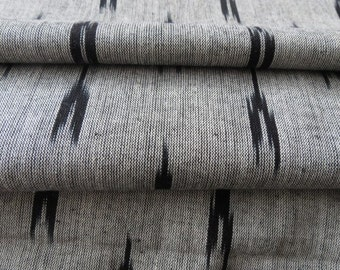 Grey And Black Ikat fabric