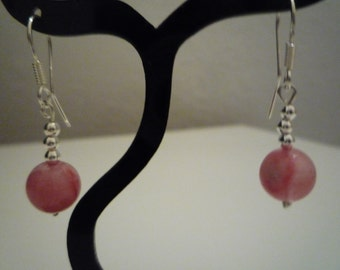 Sterling Silver 925 with watermelon tourmaline earrings