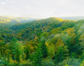 Mountain Photography, Smoky Mountains. Digital Download, Fine Art Photography, Home Decor, Cabin Decor, Stock Photo