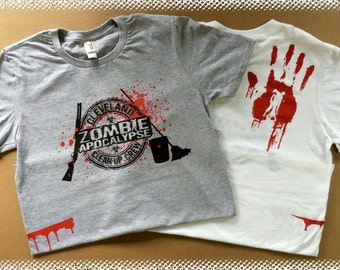Cleveland Zombie Apocalypse Clean-up Crew T-shirts