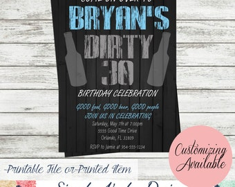 Dirty 30 Birthday Invitation