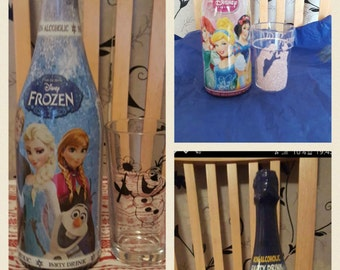 frozen non alcoholic drink with personalised glass