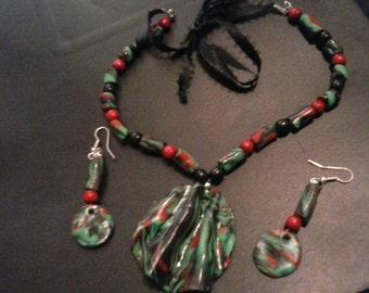 Afrika love earring set