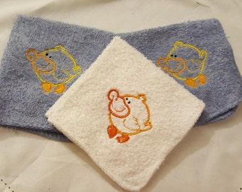 Duck Washcloth Set for Baby Boy