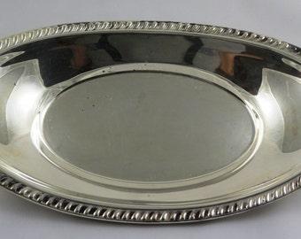 Vintage Silver Tray, Oval