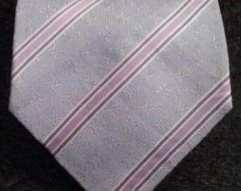 Vtg 100 % Silk CELINE Stripes Necktie