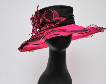 Kentucky Derby Hat, Wedding Hat, Church hat, Women's Formal Hat, Pink Hat, Derby Hat, Wedding Hat, Funeral Hat