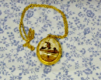 SALE - Vintage Windmill Locket - SALE