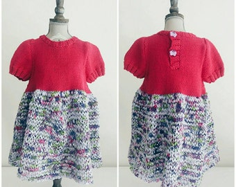 Knitted Baby Dress (1 year old)