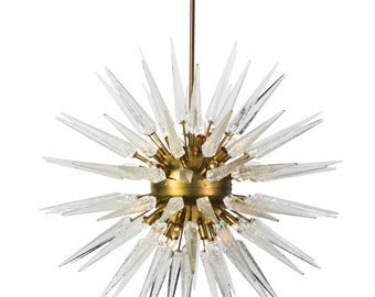 magnificent midcentury modernist sputnik chandelier with murano glass spikes