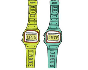 Fake Tattoo Watches - Fun & Cool LATE Temporary Tattoo Watches (Set of 2 - Lime and Turqoise)