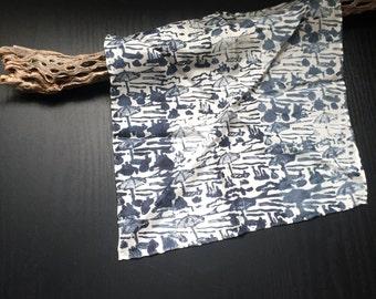 hand printed beach umbrella silk pocket square