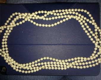 Multistrand beaded necklace